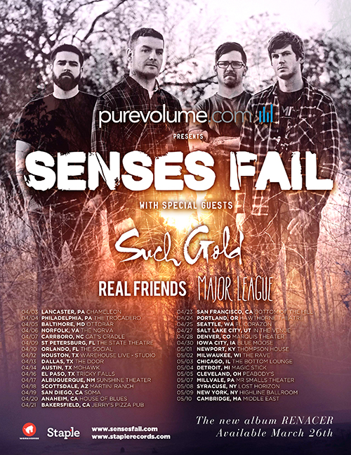 Senses Fail 2013 Tour