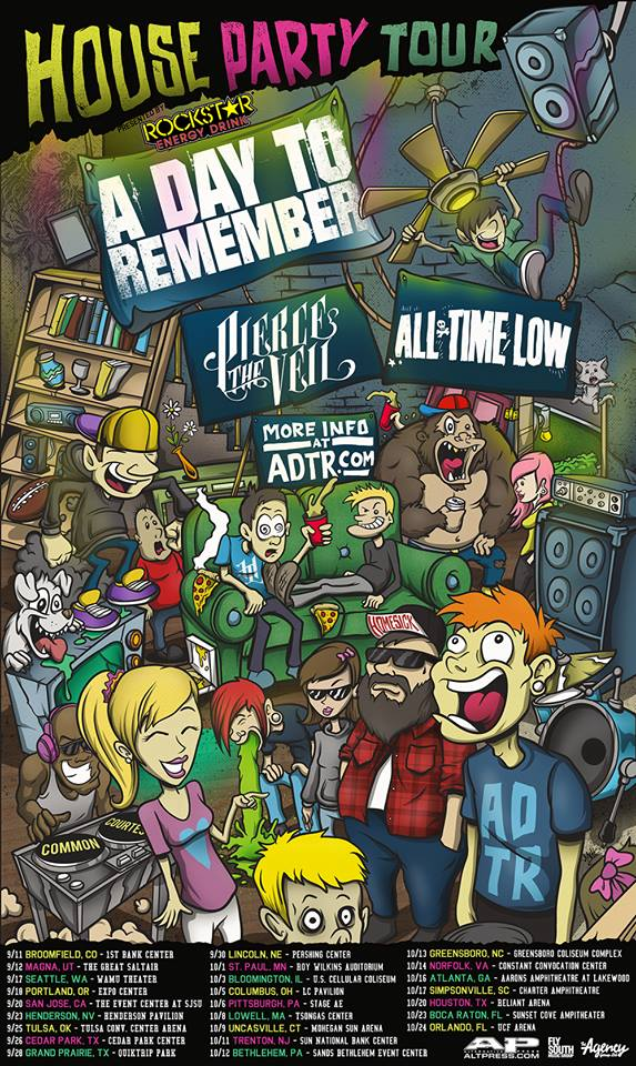 A day to remember pierce the veil all time low announce massive remember pierce the veil and all time low have joined forces and are heading out on the house party tour vip tickets m4hsunfo