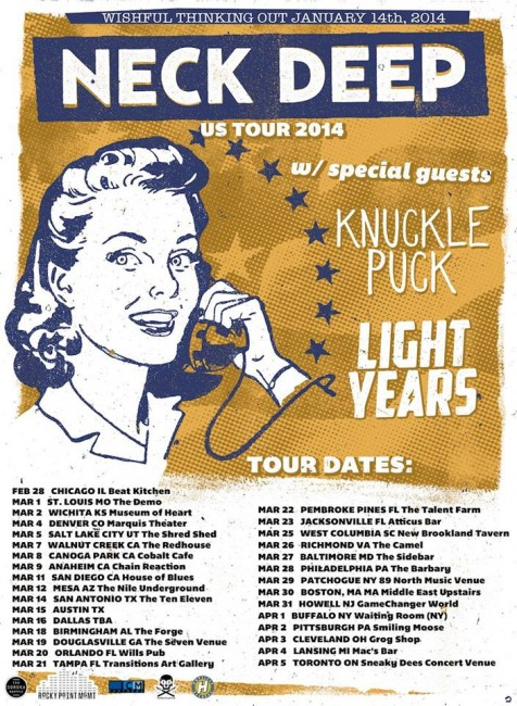 neck deep tour