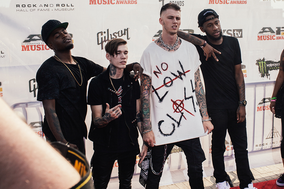 Machine Gun Kelly and his band