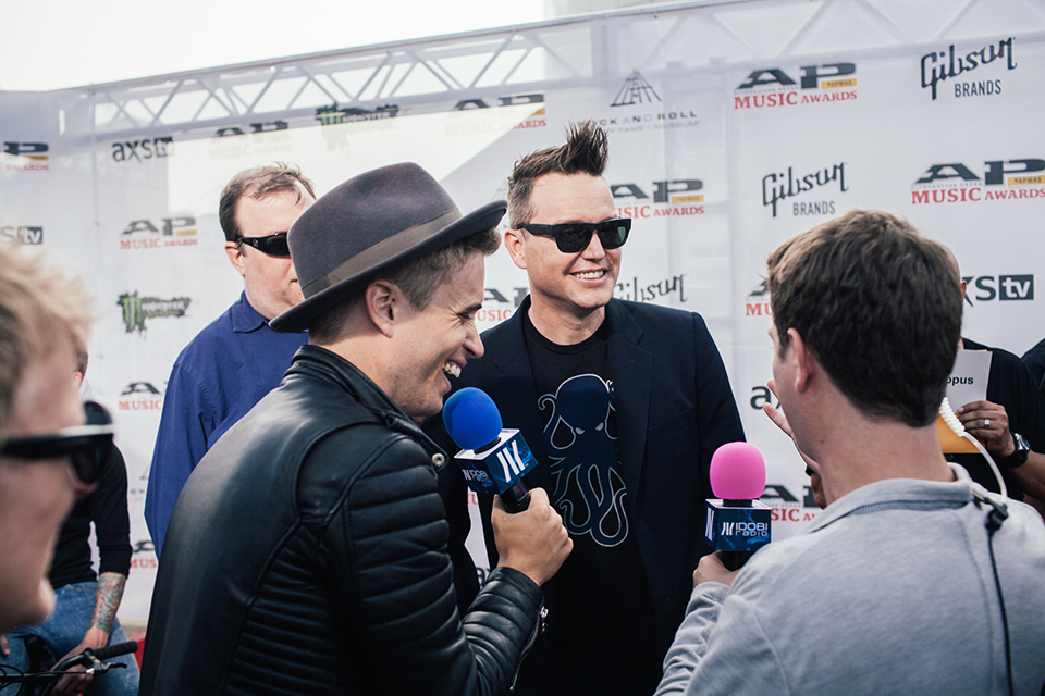 We also spoke with the legendary Mark Hoppus!
