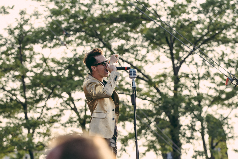 Brendon Urie performing