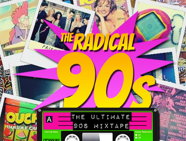 The Radical 90s: Ultimate Mixtape Graphic