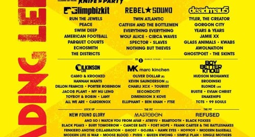 reading leeds full lineup 2015