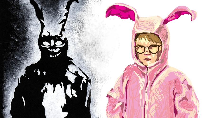 Ralphie credit: http://www.theteewarehouse.com/2012/11/ralphie-pink-bunny-suit/