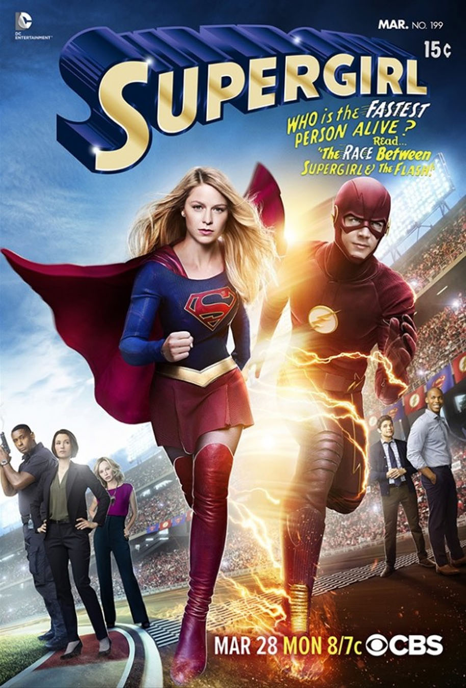 Supergirl-races-The-Flash
