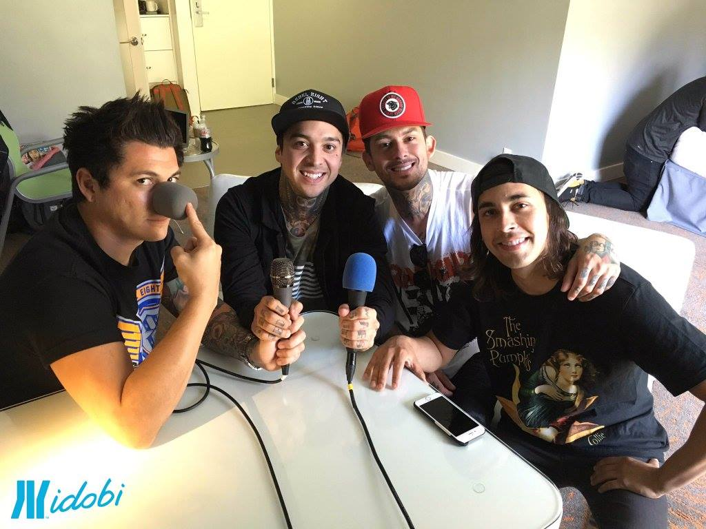 Pierce The Veil recording an idobi TxT!