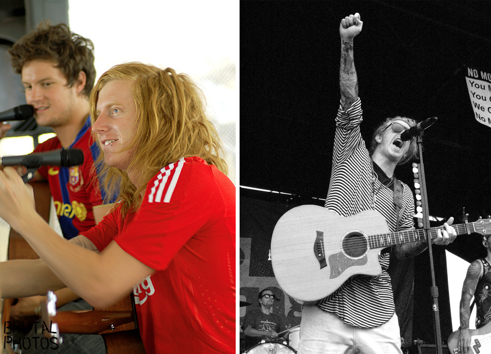 Travis Clark of We The Kings, 2008 vs. 2016