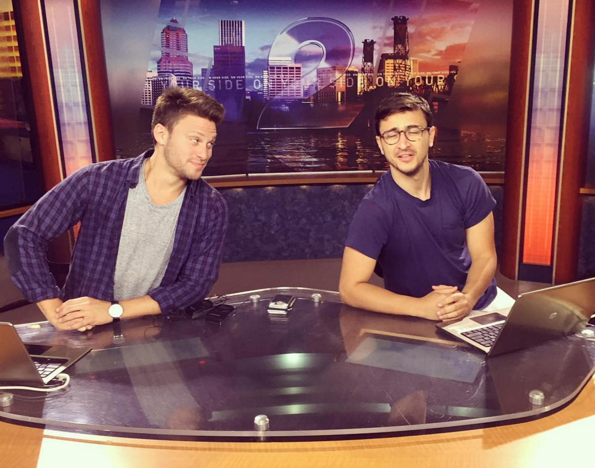Jon Rudnitsky and Jake Nordwind. at Portland's Helium comedy club. Photo credit: Instagram