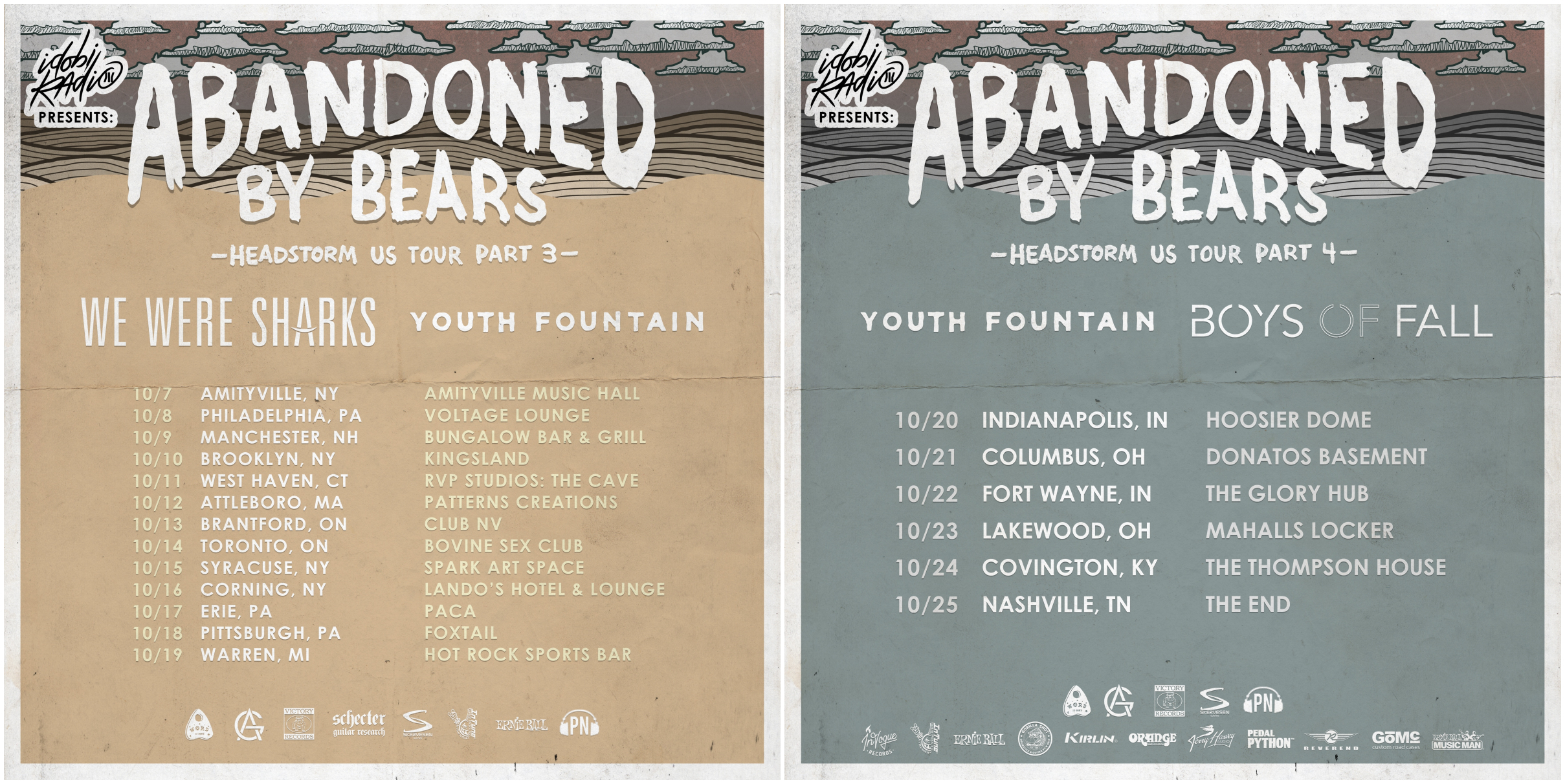 Announcing the Headstorm Tour Featuring Youth Fountain