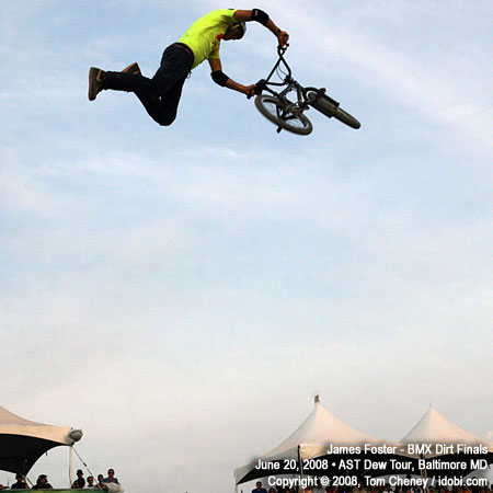 James Foster Places Second at AST Dew Tour BMX Dirt Finals 2008 in Baltimore Maryland