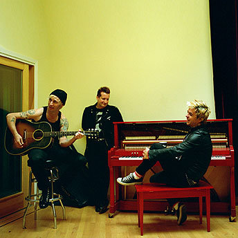 Green Day in the studio