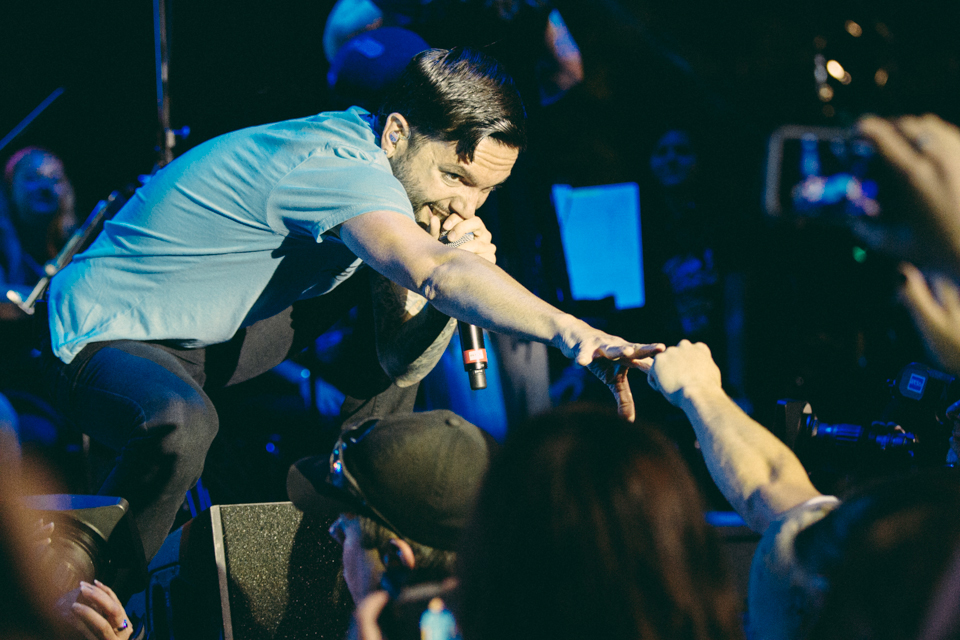 Jeremy McKinnon of A Day To Remember performing