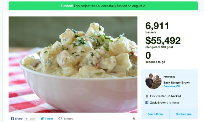 kickstarter potato salad