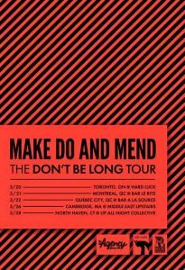 make do and mend tour 2015