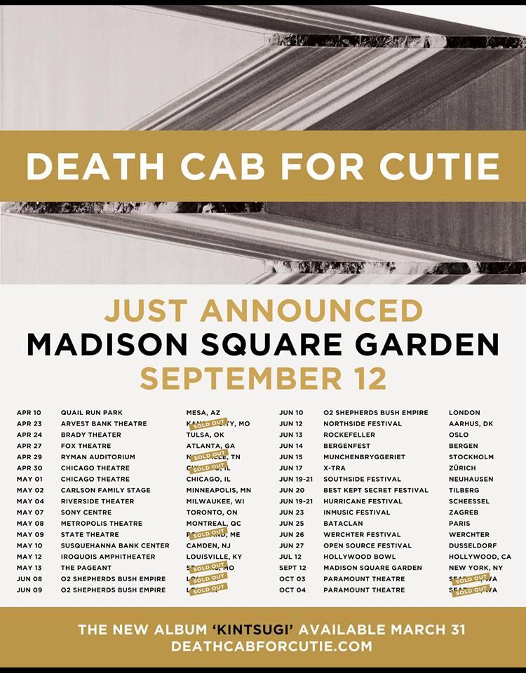 death cab for cutie tour 2015