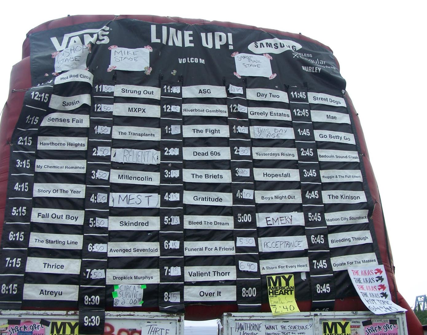 Warped Lineup 2004
