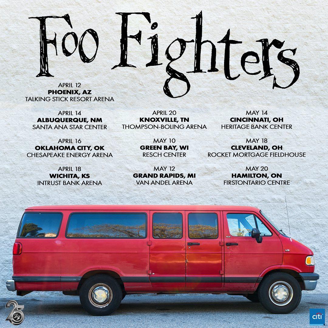 Resultado de imagem para Foo Fighters van tour